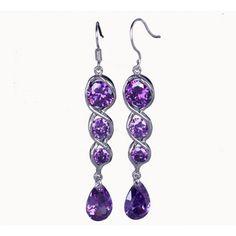$5.17 62x9mm 925 Sterling Silver Jewellery Crystal Earrings