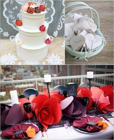 Origami wedding centrepiece! Wow!