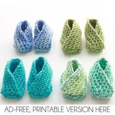Easiest Baby Booties Ever Knitting Pattern- knit flat with no heel shaping! Very Easy Knit Baby Booties Knitting Pattern - Gina Michele Baby Booties Knitting Pattern, Crochet Baby Booties, Knitting Patterns Free, Free Pattern, Crochet Pattern, Knitted Baby Boots, Sweater Patterns, Crochet Shoes, Crochet Beanie