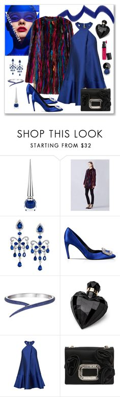 """""""New York Engagement Party"""" by romaboots-1 ❤ liked on Polyvore featuring Christian Louboutin, Diane Von Furstenberg, Effy Jewelry, Roger Vivier, Lipsy, Paper London and Laura Geller"""