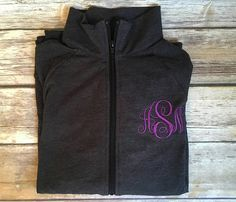 Rain Jacket, Monogrammed Embroidered Quarter Zip Rain Jacket ...