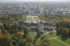 Karlsruher Schloss und Schlossgarten im Herbst, Karlsruhe Palace and Palace garden in autumn Places Around The World, Around The Worlds, Germany Landscape, Maybe Someday, Austria, Places Ive Been, Palace, Dolores Park, Memories
