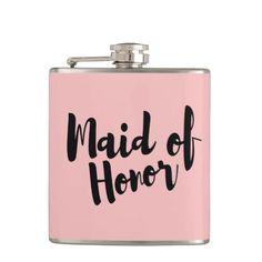 Maid of Honor Wedding Vinyl Flask