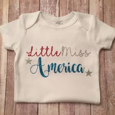 Fourth of July - 4th of July - Little Miss America - Baby Girl Outfit - USA - Pride - Independence Day Outfit - 1st 4th of July - Baby Gift