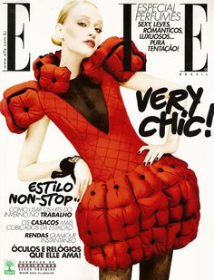 ELLE BRAZIL JUNE, 2010 COVER WITH-  VIVIANE ORTH
