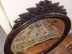 Espelho Antigo Anos 50 Jacarandá Bisotado Entalhado Lindo!! - R$ 390,00 no MercadoLivre