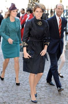 Princess Beatrice and Princess Eugenie with Prince Edward