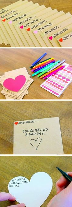 Open When Envelopes 23 DIY Valentines Crafts for Boyfriend DIY Birthday Gifts for Him Diy Birthday Gifts For Him, Cute Valentines Day Gifts, Diy Gifts For Him, Birthday Diy, Valentines Day Gifts For Him Boyfriends, Homemade Valentines Gifts For Him, Diy Romantic Gifts For Him, Valentines Day Gifts For Her, Valentines Ideas For Her