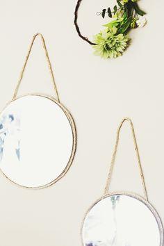 Circular Hanging Mirrors DIY