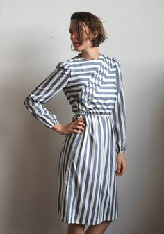 80s diagonal striped dress. this is awesome.