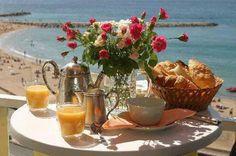 Desayuno en la playa!!!
