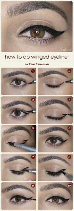 Super helpful step by step cat eye.