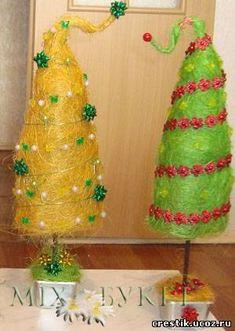 Ёлка из сизаля: новогоднее деревце своими руками