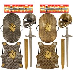 Medieval Knight Armour Set Helmet Sword Shield Fancy Dress Toy Soldier Dragon