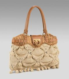 Knitted Bag. change croc leather to plain cowskin
