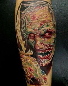 Zombie Tattoos: Scarier They are, Popular They Become - Curso de Tatuagem Facial Tattoos, Body Art Tattoos, Girl Tattoos, Sleeve Tattoos, Tattoo Art, Tatoos, Friend Tattoos, Finger Tattoos, Leg Tattoos