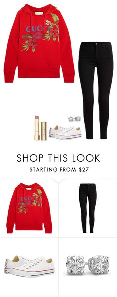 """Untitled #1159"" by h1234l on Polyvore featuring Gucci, Converse and Stila"