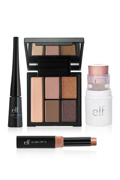 Everything you need for a naturally pretty spring look, all in one convenient kit! This kit features the e.l.f. Cosmetics Clay Eyeshadow palette - richly pigmented and effortlessly blendableto create a natural looking or bold look! Shop all the curated sets exclusively at elfcosmetics.com
