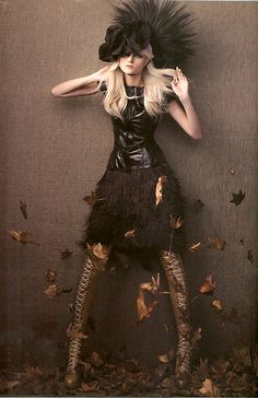 Emma Karlsson by Troyt Coburn in Willow Leather Thigh High Boots. Vogue Australia, 09/2008 #fashion #editorial #autumn