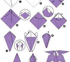 origami-facile-fleur-pliage-tutoriels