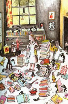 bibliolectors:  Me, my monsters and my books / Yo, mis monstruos y mis lectura (ilustración de Kitty Crowther)