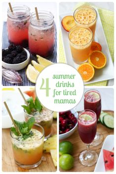 4 tasty ways to top off your busy summer day (alcoholic or not - whichever you prefer)