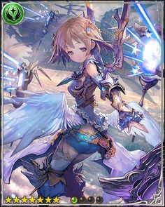Sahaquiel: The delicate angel reigns over the sky. Though she may look innocent, her unholy rivals quiver when she launches a flurry of light-beam arrows from her star staff.