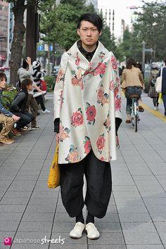 Saturday November 30, 2013 TSUYOSHI KURAHARA Shibuya, Tokyo AUTUMN 2013, GUYS Kjeld Duits STUDENT, 20  Coat – Comme des Garçons Pants – Chri...