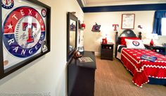 Texas Rangers, bedroom, Kaleidoscope of Homes, built by HGC  Fort Worth