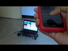 Piloter un ordinateur sur roulette avec son iPhone