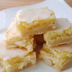 Sunburst Lemon Bars recipe featured on DesktopCookbook. Ingredients for this Sunburst Lemon Bars recipe include Crust- 2 cups flour, cup powdered sugar, 1 cup butter, softened, and 1 tsp grated lemon peel. Create your own online recipe box. Yummy Treats, Sweet Treats, Yummy Food, Tasty, Fun Food, Delicious Cookies, Lemon Recipes, Sweet Recipes, Lemon Desert Recipes