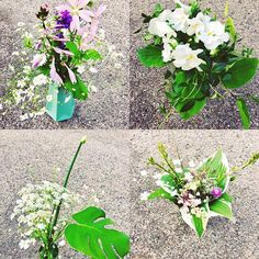 Is one of these bouquets more beautiful than others? Wild flowers and flowers from my own garden. Cant resust white and pink. Please tell me if you like! Send me #flowerpost #flowermail