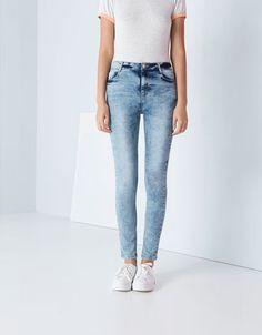 BershkaRomânia - Jeanși Bershka skinny cu talie înaltă