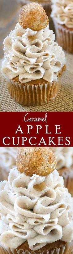 My favorite Caramel Apple Cupcakes that taste just like apple pie!