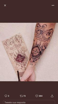 Crazy Tattoos, Mini Tattoos, Body Art Tattoos, Small Tattoos, Sleeve Tattoos, Cuff Tattoo, Hp Tattoo, Hogwarts Tattoo, Desenhos Harry Potter