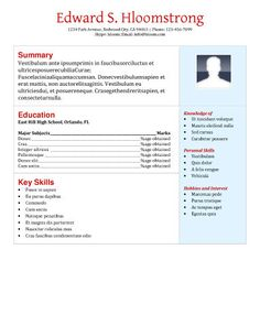 Usable Resume Templates Refined  Free Resume Templatehloom  Resume Examples .