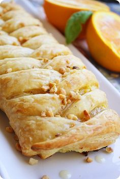 Orange Cheese Danish Pastry  A fluffy, super flavorful pastry with a mixture of ricotta and orange zest, beautiful! So simple. Makes 2 danish pastries and  serves 10.