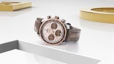 OMEGA Watches: Speedmaster 38 mm - one of the most recognised chronographs in the world. Now, OMEGA introduces this refined 38 mm collection. The famous look and heritage is still at the heart of its creation, but the enduring design has been given a new aesthetic touch with simplicity, size and colour in mind.