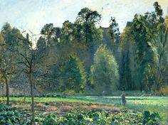 The Cabbage Field, Pontoise, 1873 Camille Pissarro