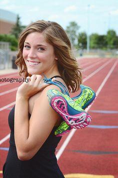 Senior Portrait / Photo / Picture Idea - Cross Country / Track - Girls - Cleats / Shoes - Dress