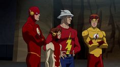 The Flash Family: Barry Allen, Bart Allen, Jay Garrick, Wally West  ~ Young Justice
