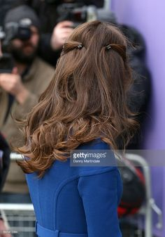 Catherine, Duchess of Cambridge, hair detail, visits CBUK Stratford on January 11, 2017 in London, England.