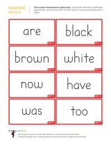 Free kindergarten worksheets with 8 Dolch sight words to a page. Cut them apart to make free Dolch Sight Word flashcards for children. Sight Word Sentences, Sight Word Flashcards, Sight Word Worksheets, Dolch Sight Words, Sight Word Activities, Phonics Activities, Kids Learning Activities, Kindergarten Learning, Kindergarten Worksheets
