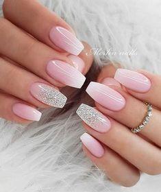 Bridal Nails Designs, Wedding Nails Design, Pink Nail Designs, Nail Designs For Weddings, Wedding Designs, Wedding Ideas, Wedding Nails For Bride, Bride Nails, Prom Nails