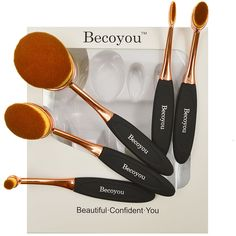 Makeup Brushes Set, Becoyou New Fashionable Super Soft Oval Toothbrush Makeup Brush Cosmetic Brushes, Rose Gold * For more information, visit image link.