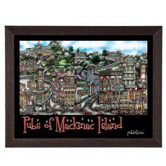 'Mackinac Island, MI' by Brian McKelvey Frame Poster Painting Print