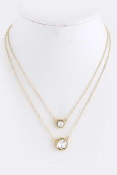 Classic Round Crystal Layer Necklace * More Color Options – House of Taylor