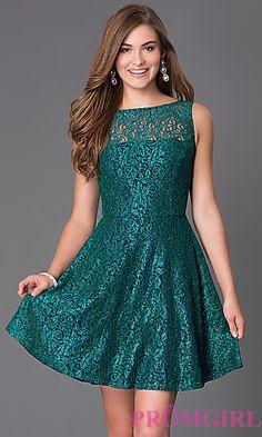 Short Sleeveless Lace Dress D62381HVU by Speechless at PromGirl.com