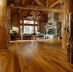 Rustic Mountian Decorating, Lodge look, cabin and ski style  ----- LOVE THIS FLOORING!!