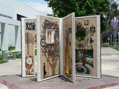 """""""Illuminations"""" sculpture at the Cerritos Public Library, Cerritos, California, USA"""